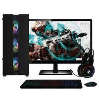 Pc Gamer Completo Amd Ryzen 3 (placa De Vídeo Radeon Vega 8) Monitor 21.5´´ Full Hd 8gb Ddr4 Hd 1tb 500w Skill Cool