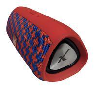 Caixa De Som Bluetooth Portátil Xtrad Entrada USB Xdg E16+  Vermelha com Azul