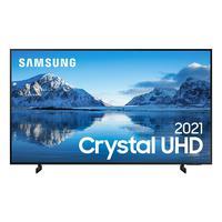 Smart Tv Samsung Crystal Uhd 4k, 55au8000, Design Slim Som Em Movimento Virtual Visual Sem Cabos 55´´