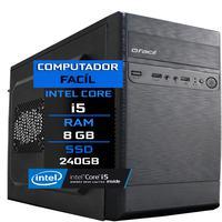 Computador Fácil Intel Core I5 8gb Ssd 240gb