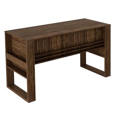 Mesa Para Escritório C/ Porta Objetos Me4146-tecno Mobili - Nogal