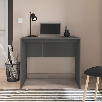 Mesa Escritório Escrivaninha Home Office 90cm Cubic Chumbo