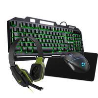 Kit Gamer Shield  Tc Semi Mecanico Verde+ Headset + Mouse 2400dpi + Mp