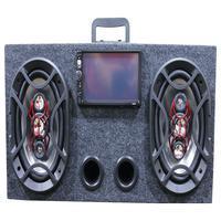 Caixa Ativa 6x9 Bravox + Central Multimidia Usb Bluetooth Espelhamento