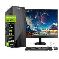 """Computador Completo Fácil Intel Core I5 10400f (décima Geração) 8gb Ddr4 Geforce Nvidia 1gb Ssd 960gb Monitor 19"""" Hdmi"""