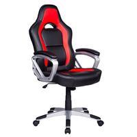 Cadeira Gamer Em Couro Pu Pelegrin Pel-3007 - Vermelho