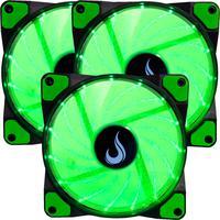 Kit com 3 Cooler - Fan Rise Mode, 120mm, Led Verde - Rm-wn-01-bg
