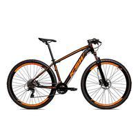 Bicicleta Aro 29 Ksw Cambios Gta 27 Vel Freio Disco Hidráulica E Trava - 19 polegadas - Preto/laranja Fosco