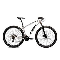 Bicicleta Aro 29 Ksw Cambios Gta 27 Vel Freio Disco Hidráulica E Trava - 19 polegadas  - Branco/preto