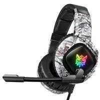 Fone Headset C Microfone Led Rgb P3/2p2 Usb Para Leds Onikuma Camuflado