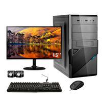 Computador Completo Corporate I3 8gb 120gb Ssd Windows 10 Monitor 15