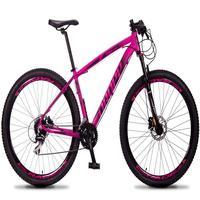 Bicicleta Aro 29 Dropp Rs1 Pro 24v Acera Freio Hidra E Trava - Rosa/preto - 19'' - 19''