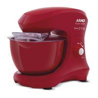 Batedeira Planetária Arno Super Chef 750w 5l Vermelha Km02 - 220v