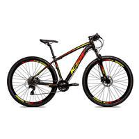 Bicicleta Alumínio Ksw Shimano Altus 24 Vel Freio Hidráulico E Suspensão Com Trava Krw18 - Preto/amarelo E Vermelho - 15.5´´