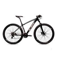Bicicleta Alumínio Ksw Shimano Altus 24 Vel Freio Hidráulico E Cassete Krw19 - 17´´ - Preto/prata