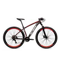 Bicicleta Alumínio Aro 29 Ksw 24 Velocidades Freio Hidráulico Krw17 - 19'' - Preto/vermelho