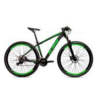 Bicicleta Alum 29 Ksw Shimano 27v A Disco Hidráulica Krw14 - 21´´ - Preto/verde Fosco