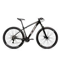 Bicicleta Alumínio Aro 29 Ksw Shimano Tz 24 Vel Ltx Krw20 - 19´´ - Preto/prata