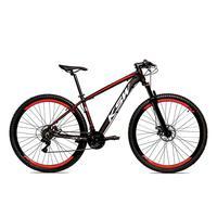 Bicicleta Alumínio Ksw Shimano Altus 24 Vel Freio Hidráulico E Suspensão Com Trava Krw18 - 15.5´´ - Preto/vermelho