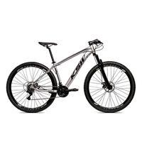 Bicicleta Alumínio Aro 29 Ksw 24 Velocidades Freio A Disco Krw16 - 17´´ - Prata/preto