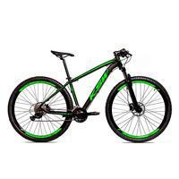 Bicicleta Alumínio Aro 29 Ksw 24 Velocidades Freio  Hidráulico Krw17 - 17´´ - Preto/verde Fosco