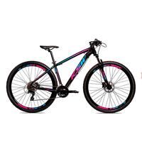 Bicicleta Alumínio Ksw Shimano Altus 24 Vel Freio Hidráulico E Cassete Krw19 - Preto/azul E Rosa - 19´´
