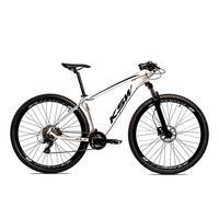 Bicicleta Alumínio Aro 29 Ksw 24 Velocidades Freio  Hidráulico Krw17 - 21´´ - Branco/preto