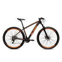 Bicicleta Alumínio Aro 29 Ksw Shimano Tz 24 Vel Ltx Krw20 - 19´´ - Preto/laranja Fosco
