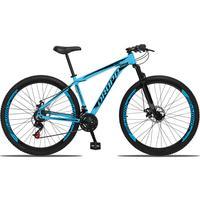 Bicicleta Aro 29 Dropp Aluminum 21v Suspensão, Freio A Disco - Azul/preto - 19