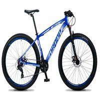 Bicicleta Aro 29 Dropp Rs1 Pro 21v Tourney Freio Disco/trava - Azul/branco - 15