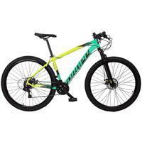Bicicleta Aro 29 Dropp Z7x 21v Shimano, Suspen E Freio Disco - Amarelo/verde E Preto - 17''