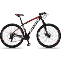 Bicicleta Aro 29 Dropp Z3 21v Shimano, Suspensão Freio Disco - Preto/vermelho E Branco - 15´´ - 15´´