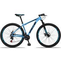 Bicicleta Aro 29 Spaceline Orion 21v Suspensão Freio A Disco - Azul/preto - 15´´ - 15´´