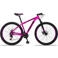 Bicicleta Aro 29 Spaceline Orion 21v Suspensão Freio A Disco - Rosa/preto - 15´´ - 15´´