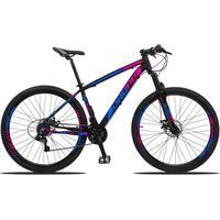 Bicicleta Aro 29 Dropp Z3 21v Shimano, Suspensão Freio Disco - Preto/azul E Rosa - 21''
