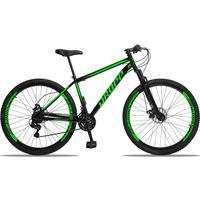 Bicicleta Aro 29 Dropp Sport 21v Suspensão E Freio A Disco - Preto/verde - 17´´ - 17´´