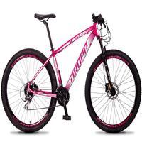 Bicicleta Aro 29 Dropp Rs1 Pro 24v Acera Freio Hidra E Trava - Rosa/branco - 19´´ - 19´´