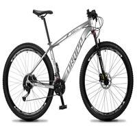 Bicicleta Aro 29 Dropp Rs1 Pro 27v Alivio, Fr. Hidra E Trava - Cinza/branco - 15''