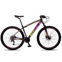 Bicicleta Aro 29 Gt Sprint Volcon 21v Shimano, Freio A Disco - Preto/amarelo E Rosa - 17''
