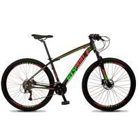Bicicleta Aro 29 Gt Sprint Volcon 27v Susp E Freio Hidraulic - Preto/vermelho E Verde - 17´´ - 17´´