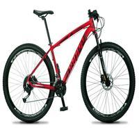 Bicicleta Aro 29 Dropp Rs1 Pro 21v Tourney Freio Disco/trava - Vermelho/preto - 21