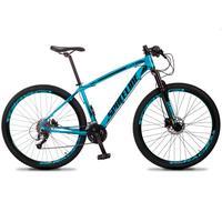 Bicicleta Aro 29 Spaceline Vega 27v Suspensão E Freio Hidral - Azul/preto - 15´´ - 15´´