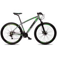Bicicleta Aro 29 Gt Sprint Volcon 21v Suspensão, Freio Disco - Cinza/verde E Preto - 15´´ - 15´´