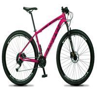 Bicicleta Aro 29 Dropp Rs1 Pro 27v Alivio, Fr. Hidra E Trava - Rosa/preto - 21''