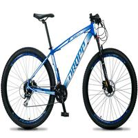 Bicicleta Aro 29 Dropp Rs1 Pro 24v Acera Freio Hidra E Trava - Azul/branco - 21