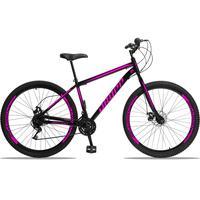 Bicicleta Aro 29 Dropp Sport 21v Garfo Rigido, Freio A Disco - Preto/rosa - 17´´ - 17´´