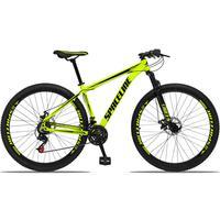 Bicicleta Aro 29 Spaceline Orion 21v Suspensão Freio A Disco - Amarelo/preto - 21´´ - 21´´