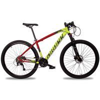 Bicicleta Aro 29 Dropp Z7x 27v Susp C/trava Freio Hidraulico - Vermelho/amarelo E Preto - 19´´ - 19´´