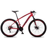Bicicleta Aro 29 Dropp Tx 21v Shimano, Suspensão E Freio Disco - Vermelho/preto - 19´´ - 19´´