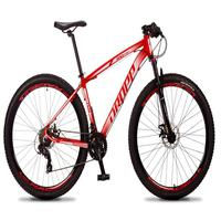 Bicicleta Aro 29 Dropp Rs1 Pro 21v Tourney Freio Disco/trava - Vermelho/branco - 21